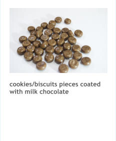 cookies/biscuits pieces coated with milk chocolate