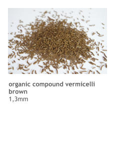 organic compound vermicelli brown 1,3mm